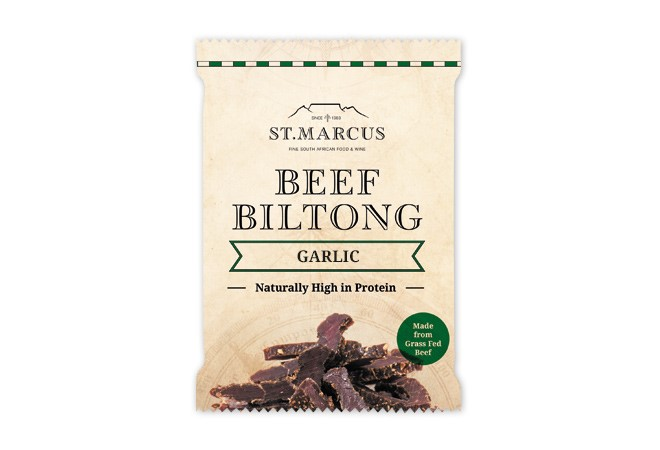 Garlic Beef Biltong Snack Pack