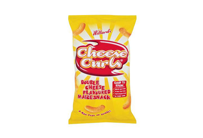 Willards Cheese Curls Crisps