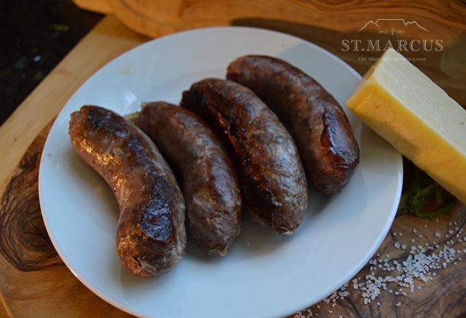 Cheesy Chicken Sausages