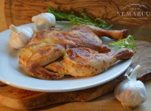 Creamy Garlic Whole Chicken Flattie