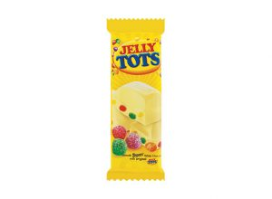 Beacon Jelly Tots White Chocolate Slab