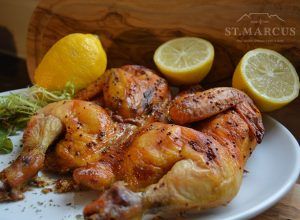 Lemon Herb Whole Chicken Flattie