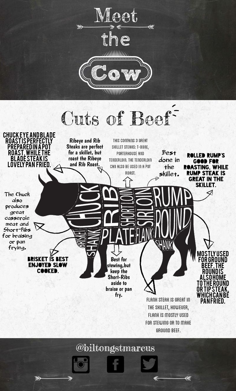 Meet the Cow: Beef Cuts and Uses