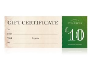 St Marcus Fine Foods Gift Vouchers