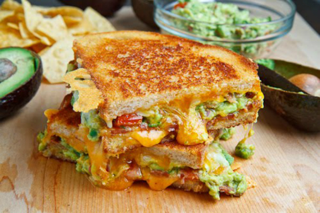 Bacon Guacamole Toastie