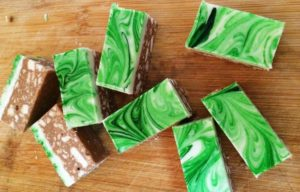 Chocolate Peppermint Slice