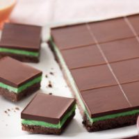 Classic Chocolate Peppermint Slice