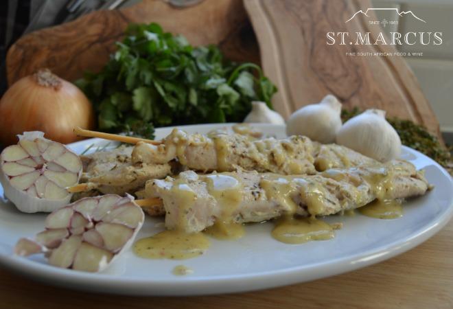 Chicken Creamy Garlic Sosaties