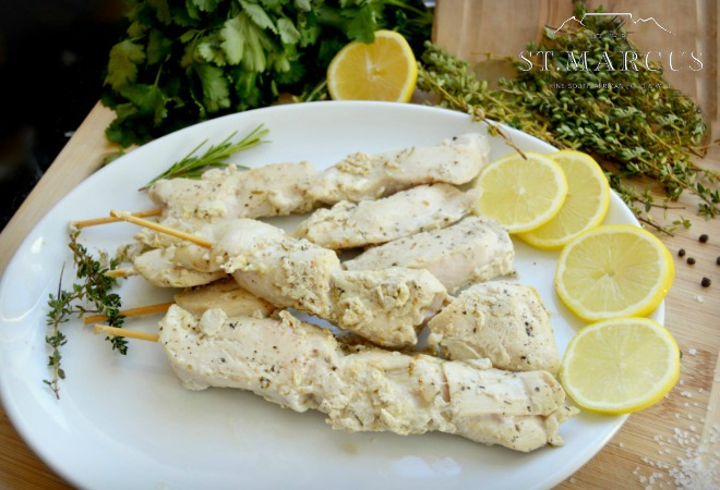 Chicken Lemon and Herb Sosaties