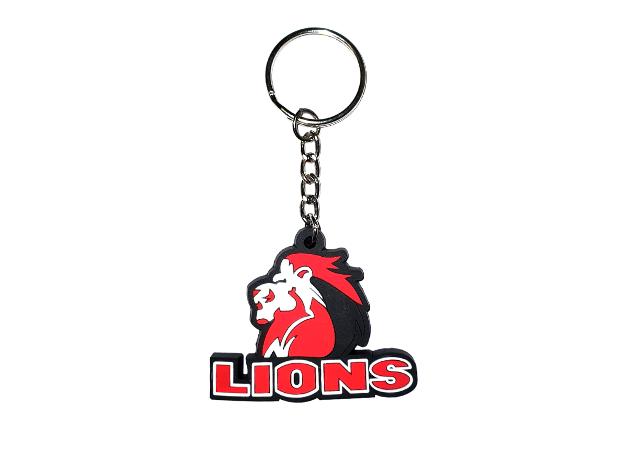 Lions pvc keyring