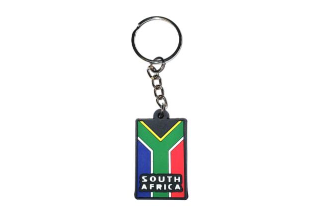 south african flag pvc keyring