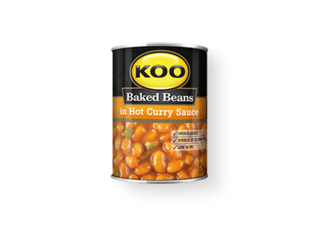 Koo Baked Beans hot curry sauce
